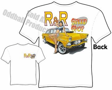 Hot Rods - Speed Shop 55 Gasser Pinup Girl T-shirt