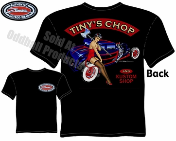 Hot Rods - Tiny's Chop & Kustom 1932 Coupe Black T-shirt