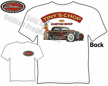 Hot Rods - Tiny's Chop & Kustom 33 34 Coupe T-shirt