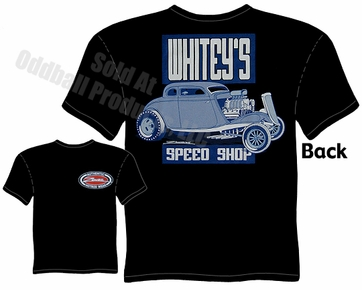 Hot Rods - Whitey's Speed Shop 1933 1934 Coupe Black T-shirt