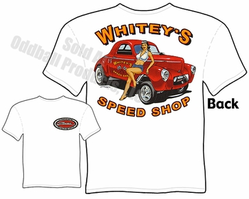 Hot Rods - Whitey's Speed Shop 1941 Willys T-shirt
