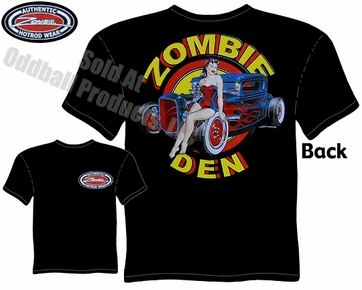 Hot Rods - Zombie Den 1930 1931 Coupe Black T-shirt