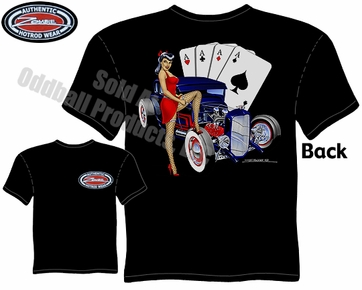 Hotrod Pin Up Wear Pinup Girl 28 29 Ford 5 Window Coupe T Shirt