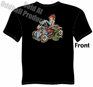 Kustom Kulture - Beauty & Beast Monster Rod T-shirt