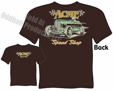 Speed Shop - ACME Speed Shop 1932 Bonneville Roadster T-shirt