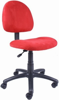 Boss Pink, Blue or Red Microfiber Desk Chair [B325]