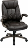 Faux Leather Mid Back Manager Chair [FLH24981]