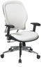 Managers White Vinyl Modern Office Chair [33-Y22P91A8]