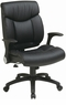 Office Star Faux Leather Managers Chair with Flip Arms [FL89675]