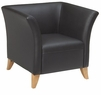 Office Star Leather Club Chair with Box Arms [SL1511]