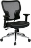 Office Star Mesh Back Chair with Folding Arms [213-E37P91F3]