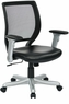 Office Star Mesh Task Chair with Flip Arms [EMH5102JG5]