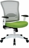 Office Star White Mesh Back Office Chair [317W-W1C1F2W]