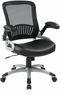 Screen Back Mesh Office Chair with Eco Leather Seat [EM35201]