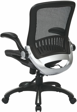 Work Smart Mesh Office Chair with Flip Away Arms [EMH69006]