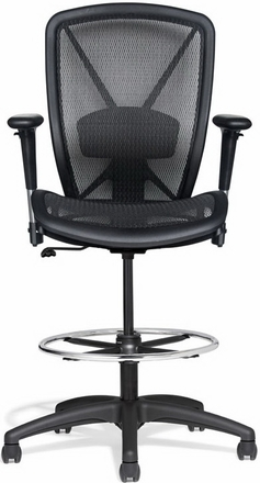 Allseating Premium Fluid Mesh Drafting Chair [81019]