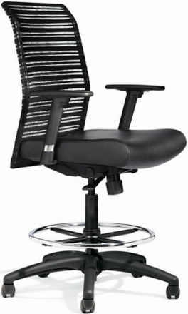 Allseating ZIP Mesh Back Drafting Chair [95019]