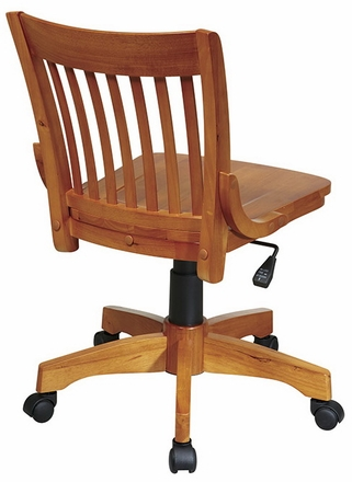 Office Star Deluxe Armless Wood Bankers Chair