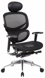 Boss High Back Ergonomic Mesh Task Chair [B6888]