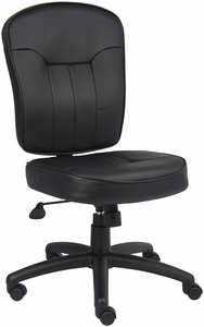 Boss LeatherPlus Armless Task Chair [B1560]