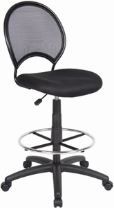 Boss Mesh Back Drafting Stool [B16215]
