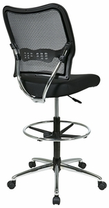 Space Seating Drafting Stool Counter Height Mesh Back 13-37P500D