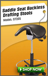 Saddle Seat Backless Drafting Stool