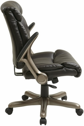 Eco Leather Task Chair With Flip Arms ECH8967R5