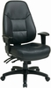 Work Smart Ergonomic Eco-Leather Multi-Function Computer Chair EC4350