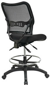 Space Seating Ergonomic Drafting Chair Mesh Back 13-37N30D