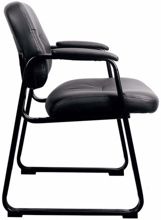 Essentials By Ofm Leather Executive Sled Base Chair