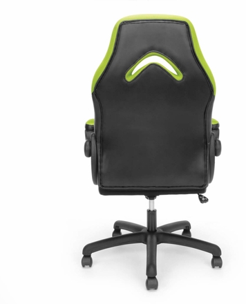 Essentials By Ofm Racing Style Green Mesh Leather Gaming Chair