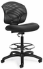 Global Tye Low Back Mesh Drafting Stool [1924-6]