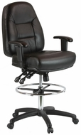 Harwick Multi-Function Leather Drafting Chair [100KL]