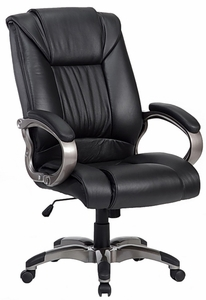 top grain leather office chair big and tall leather office chair