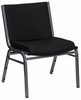 Hercules 1000 LB Capacity Black Stacking Chair [XU-60555-BK-GG]