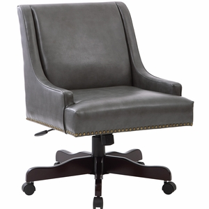 Inspired by Bassett Everton Office Chair Bonded Pewter [BP-EVREX-BD26]