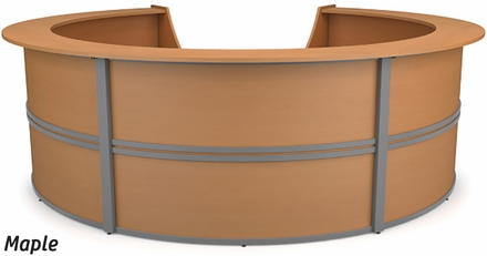 Marque 5 Unit Curved Reception Station 55296