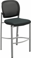 Mayline Valore Black Mesh / Fabric Stool TSS2BB
