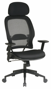 Space Seating Mesh Air Grid Chair with Adjustable Headrest [55403]