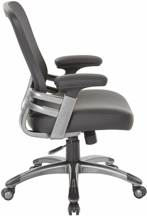 Faux Leather Mesh Back Manager's Chair [EMH6918T-U6]