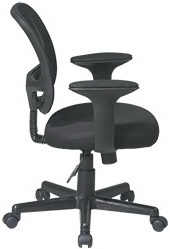 Work Smart Mesh Backed Office Chair with Arms [EM20222]
