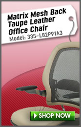 Matrix Mesh Back Taupe Leather Office Chair