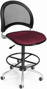 Moon Series Mesh Back Drafting Chair [336-DK]