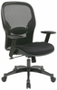 Space Seating Professional Black Breathable Chair with Mesh Fabric Seat & Back
