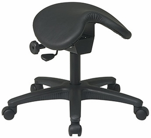 Office Star Backless Saddle Stool with Adjustable Seat [ST203]