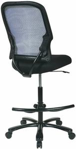 Space Seating Big and Tall Mesh Drafting Chair 15-37A720D