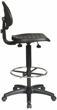 Work Smart Commercial Urethane Drafting Chair KH550