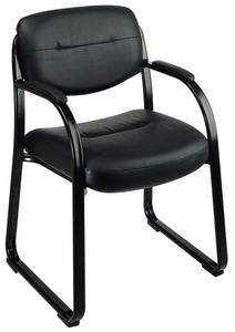 Work Smart Faux Leather Visitors Chair [FL1055]