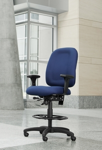 OFM Ergonomic High Back Drafting Chair [125-DK]